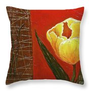 Spring Messenger Throw Pillow by Phyllis Howard