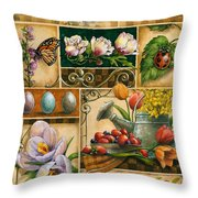 Spring Montage Throw Pillow