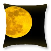 Spring Moon Rising Throw Pillow