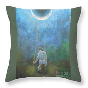 Spring Moonbeam Throw Pillow