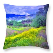 Spring Morning Along The Channel Parkway Throw Pillow