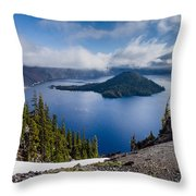 Spring Morning At Discovery Point Throw Pillow