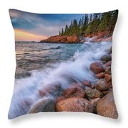 Spring Morning In Acadia National Park Throw Pillow