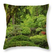 Spring Morning In The Garden Throw Pillow