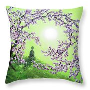 Spring Morning Meditation Throw Pillow