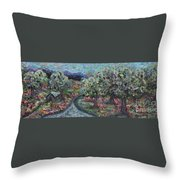 Spring Mountain Flowers Throw Pillow
