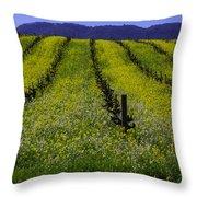 Spring Mustard Field Throw Pillow