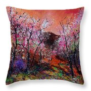 Spring Near My Home Throw Pillow