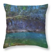 Spring Of The Summer Sky Throw Pillow