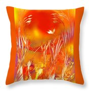 Spring On The Red Planet Throw Pillow