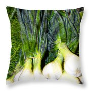 Spring Onions Throw Pillow