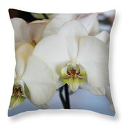 Spring Orchids Throw Pillow