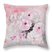 spring party Healing roses -22 Throw Pillow