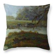 Spring Pasture Throw Pillow