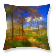 Spring Pathways Throw Pillow