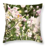Spring Petals Throw Pillow