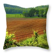 Spring Planting Throw Pillow