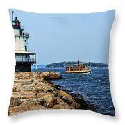 Spring Point Ladge Lighthouse - Maine Throw Pillow