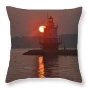 Spring Point Ledge Sunrise Throw Pillow
