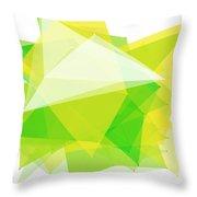 Spring Polygon Pattern Throw Pillow
