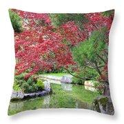 Spring Pond Reflection Throw Pillow