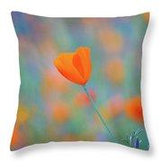 Spring Poppy Throw Pillow
