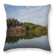 Spring Redbud Trees Throw Pillow