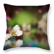 Spring Reflections-3 Throw Pillow