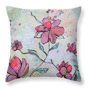 Spring Reverie II Throw Pillow
