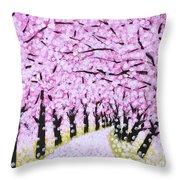 Spring Road  Throw Pillow