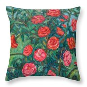 Spring Roses Throw Pillow