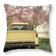 Spring Scenery Throw Pillow