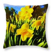 Spring Series Painting Throw Pillow
