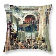 Spring Throw Pillow by Sir Lawrence Alma-Tadema