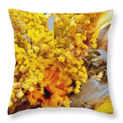 Spring Sky Bouquet Throw Pillow