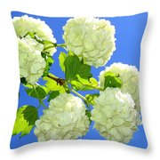 Spring Snowballs Throw Pillow