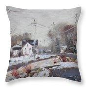 Spring Snowfall Throw Pillow