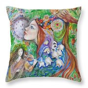 Spring Song Throw Pillow
