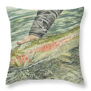 Spring Steel Throw Pillow