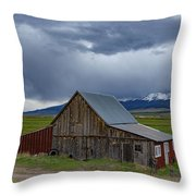 Spring Storm Looms Above The Wet Mountain Valley Throw Pillow