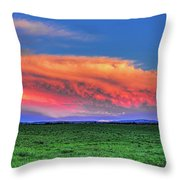 Spring Storm Over Wausau Throw Pillow