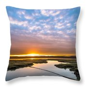 Spring Sunrise On Arcata Bay Throw Pillow