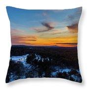 Spring Sunset Throw Pillow