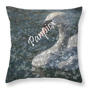 Spring Swan Throw Pillow