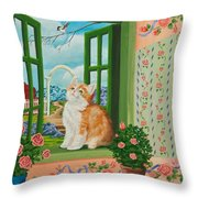 Spring Through My Window Throw Pillow