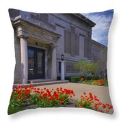 Spring Time At The Muskegon Museum Of Art Throw Pillow