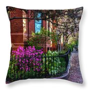 Spring Time In The City Throw Pillow