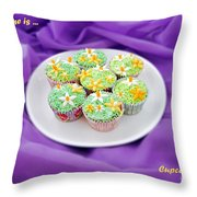 Spring Time Is Cupcake Time Throw Pillow