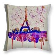 Spring Time. Paris. Eiffel Tower.  Throw Pillow