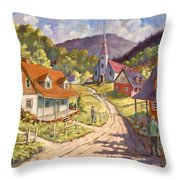 Spring Time Sun Throw Pillow